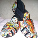 Mod Podge Comic Shoes/Sandals