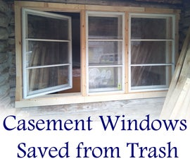 Casement Windows Saved From Trash
