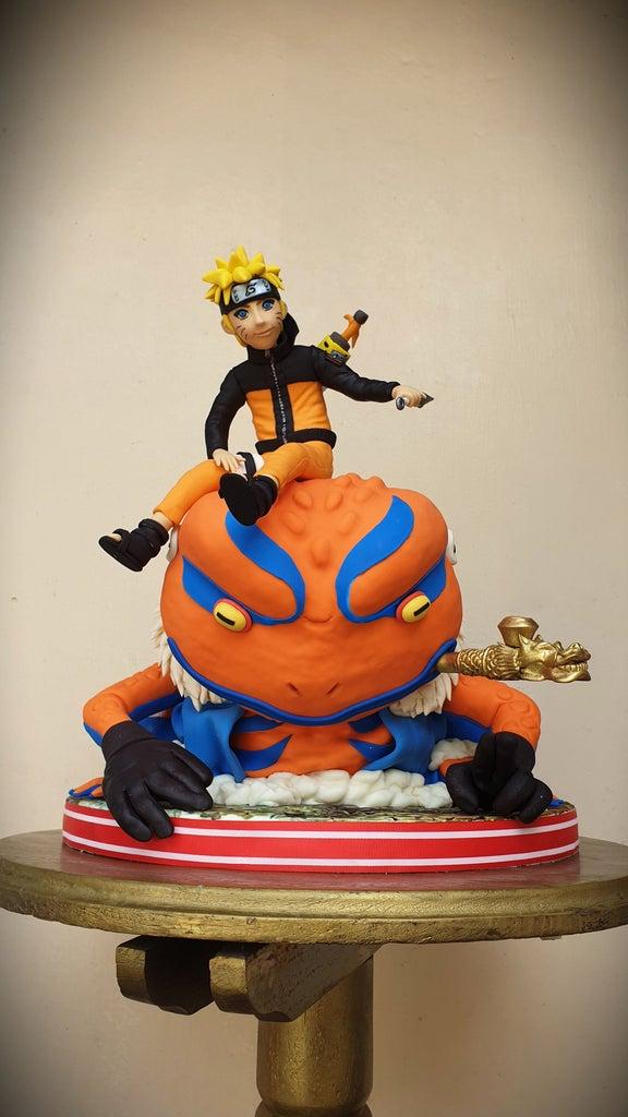 Naruto and Gamakichi Cake