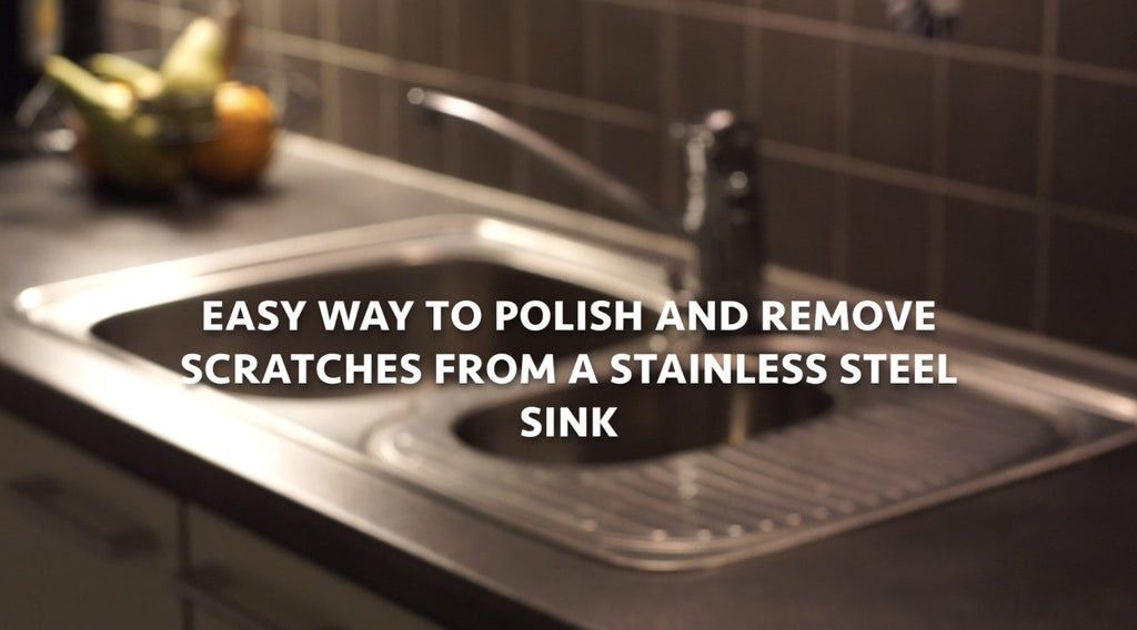 Easy Way To Polish And Remove Scratches From A Stainless Steel Sink 4 Steps With Pictures Instructables