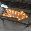 Coffee Table With Light Up Sign