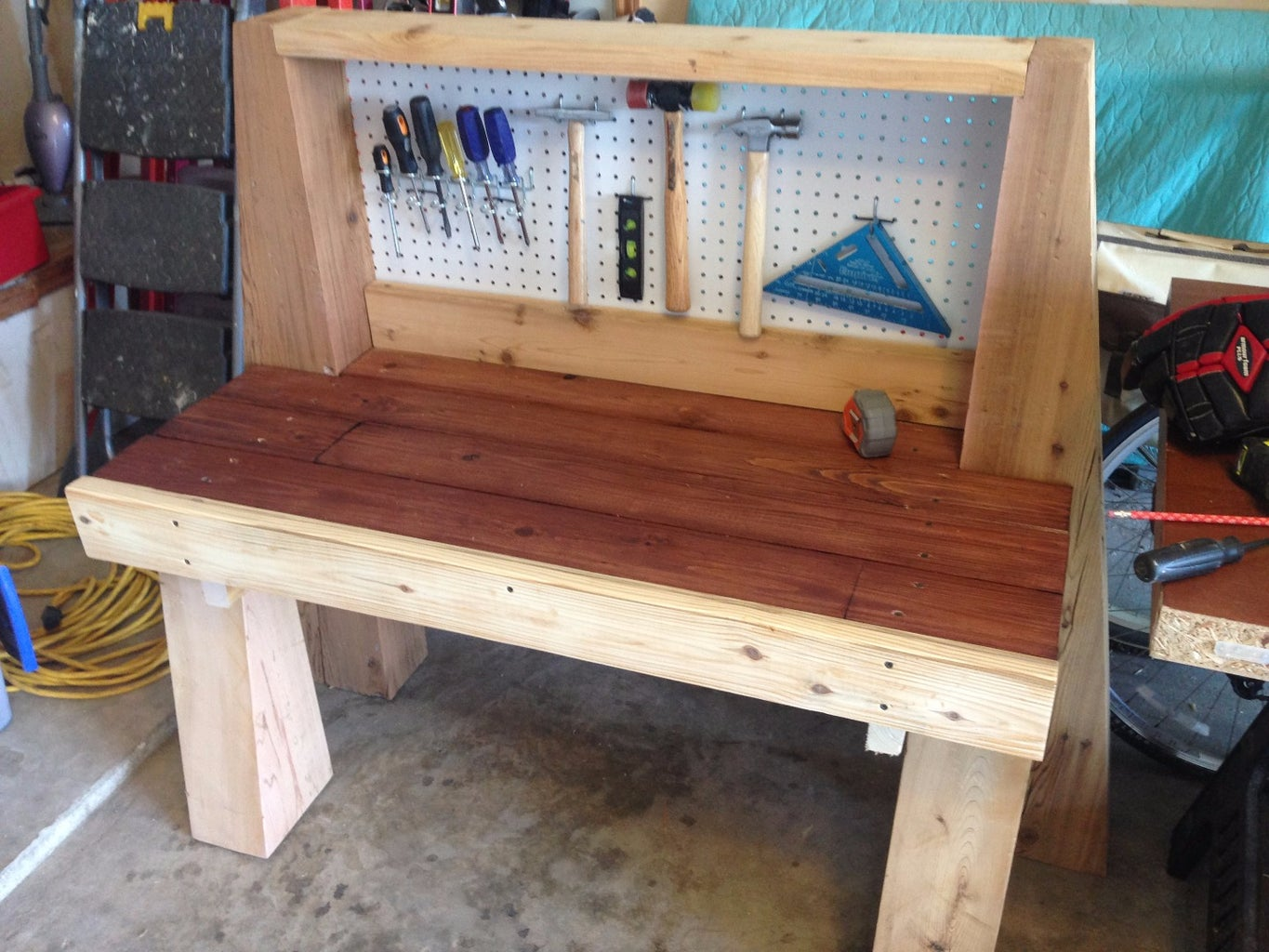 Install the Top Piece and Peg Board
