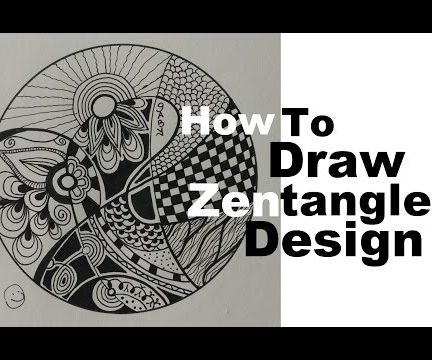 How to Draw Best Zentangle Design in Minutes