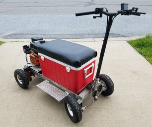 DIY Gas Powered Cooler Kart