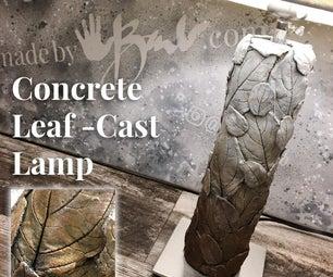 Concrete Leaf-Cast Lamp