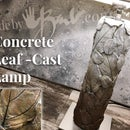 Concrete Leaf-Cast Lamp