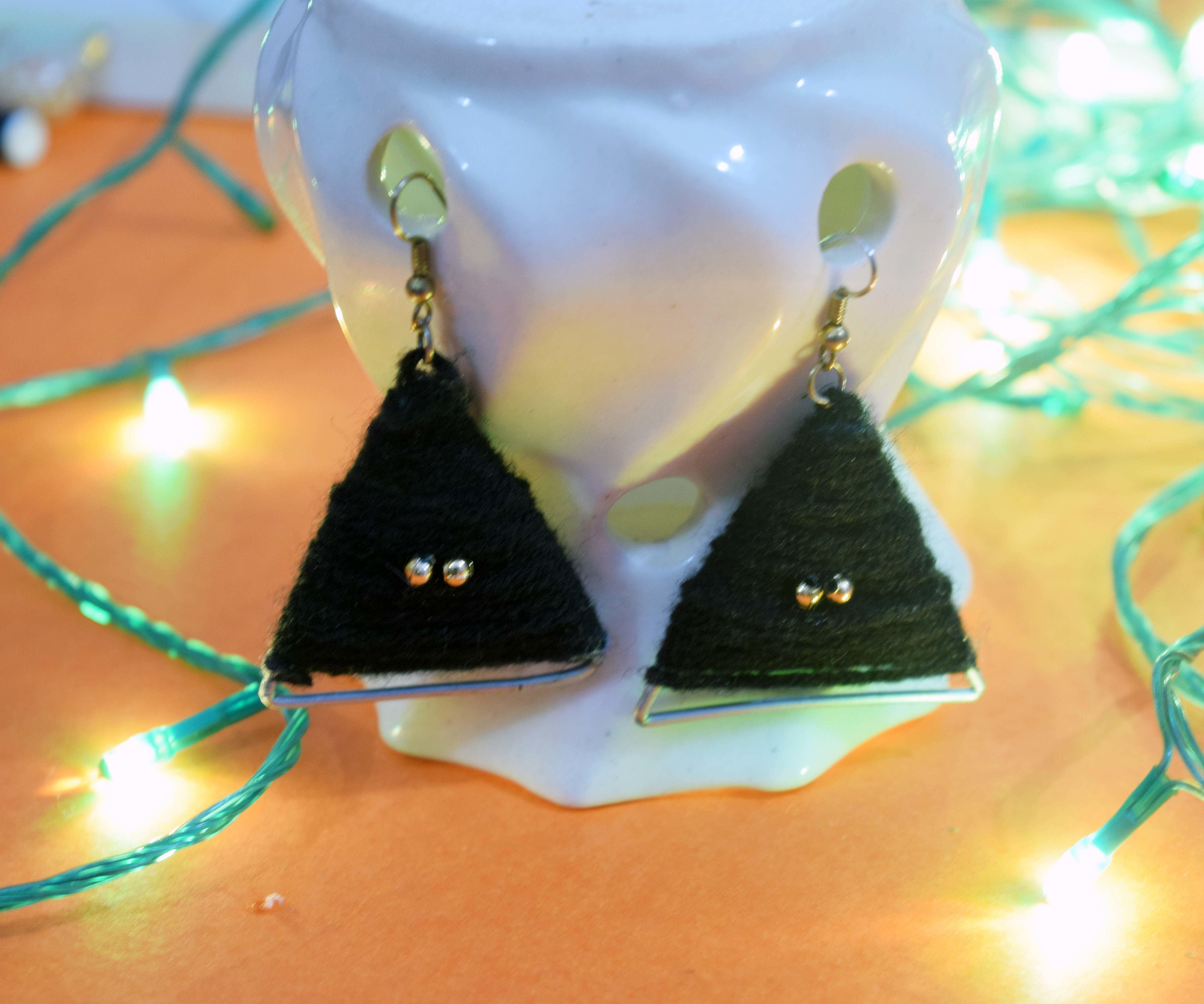 DIY Wool Earrings