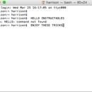 Mac Terminal Codes