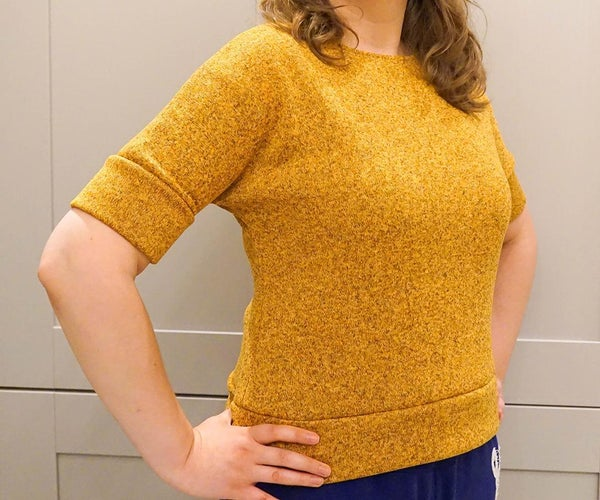 How to Sew: an Easy Comfy Top   Knit Fabric DIY Garment
