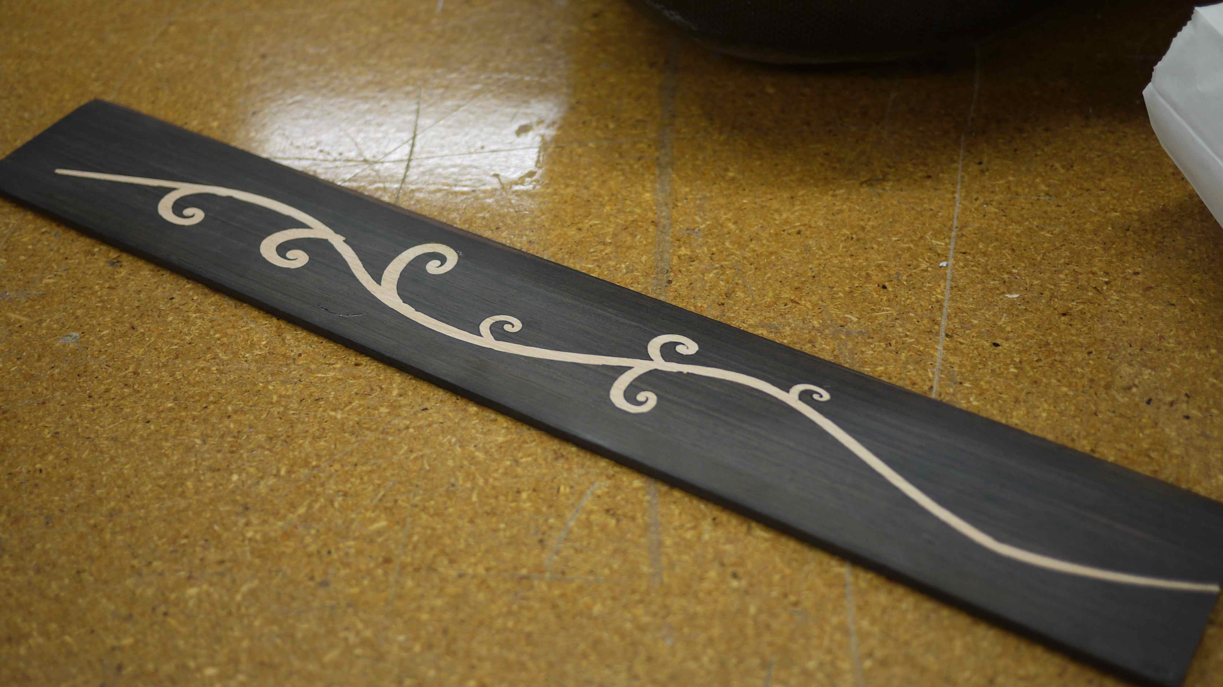 CNC Inlaid fretboard - made at Techshop