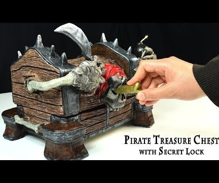 Up-cycling Shoe Boxes to Pirate Treasure Chest With Secret Lock
