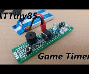ATTiny85 Game Timer - Get Rid of That Old Hourglass!