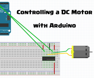 Controlling a DC Motor With Arduino