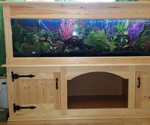 D.I.Y Aquarium Wooden Pine Stand