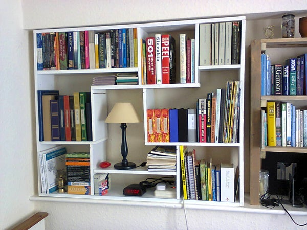 A Shelf Unit Made From Leftover Pieces of Wood