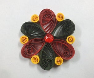 Quilling Keychain and Pendant in One