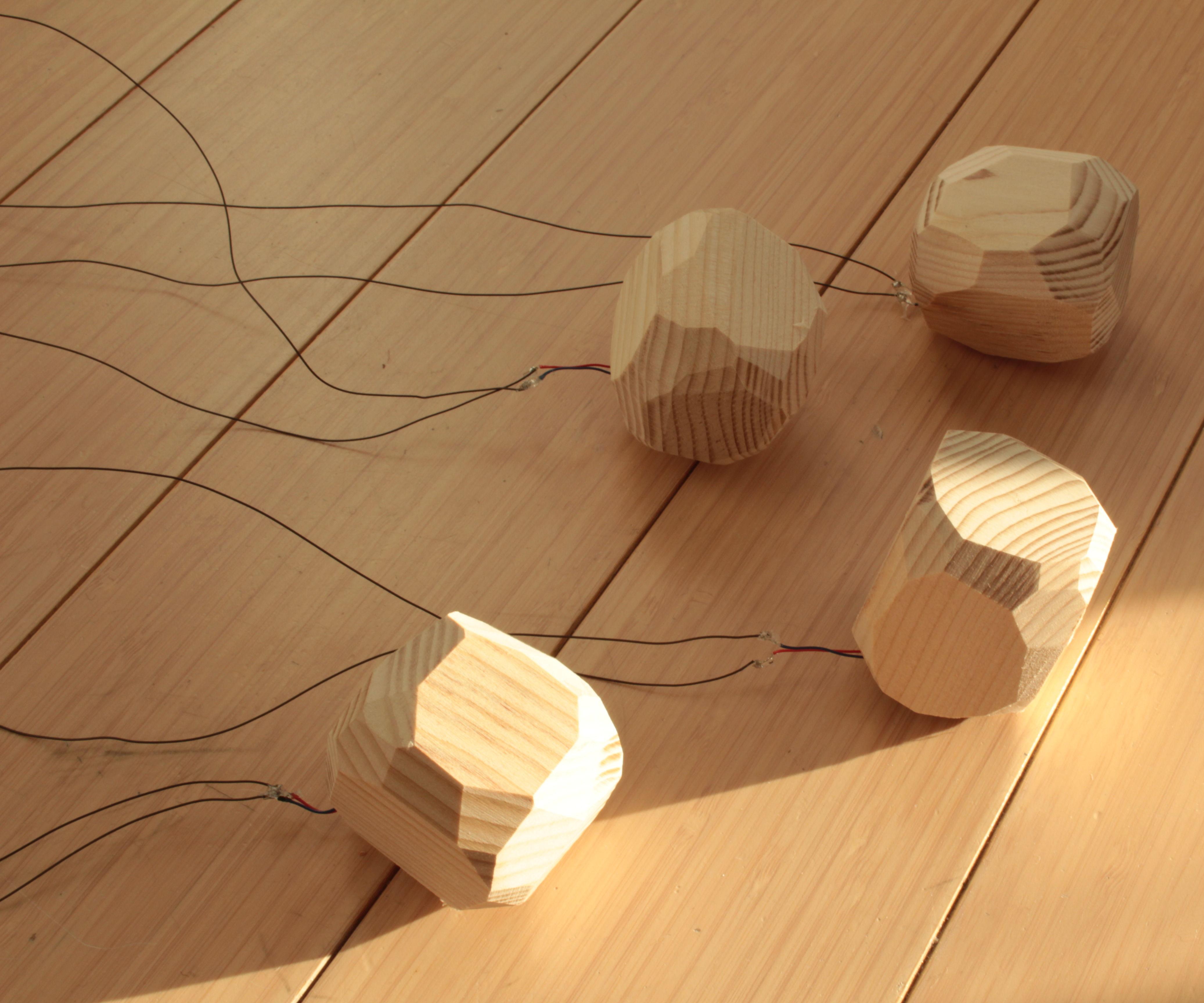 Wooden Stones Art Installation