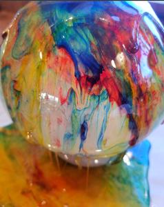 Pour Syrup Onto Balloons