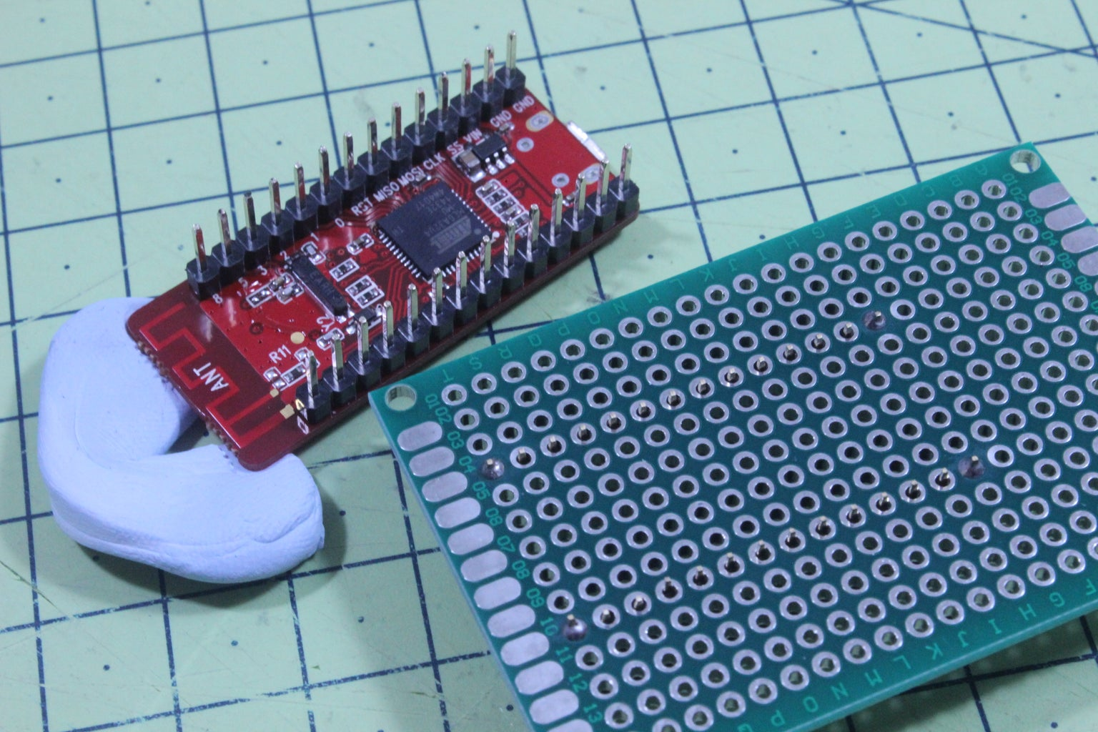 Mount the Socket to the Protoboard