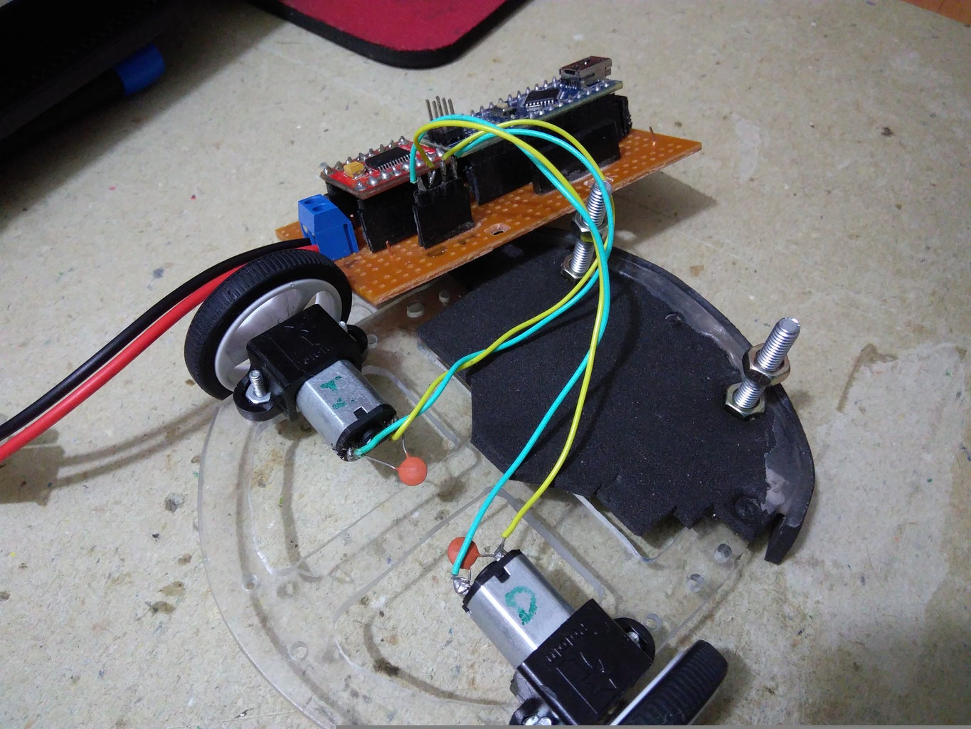 Connections Between Motor Diver and Motors