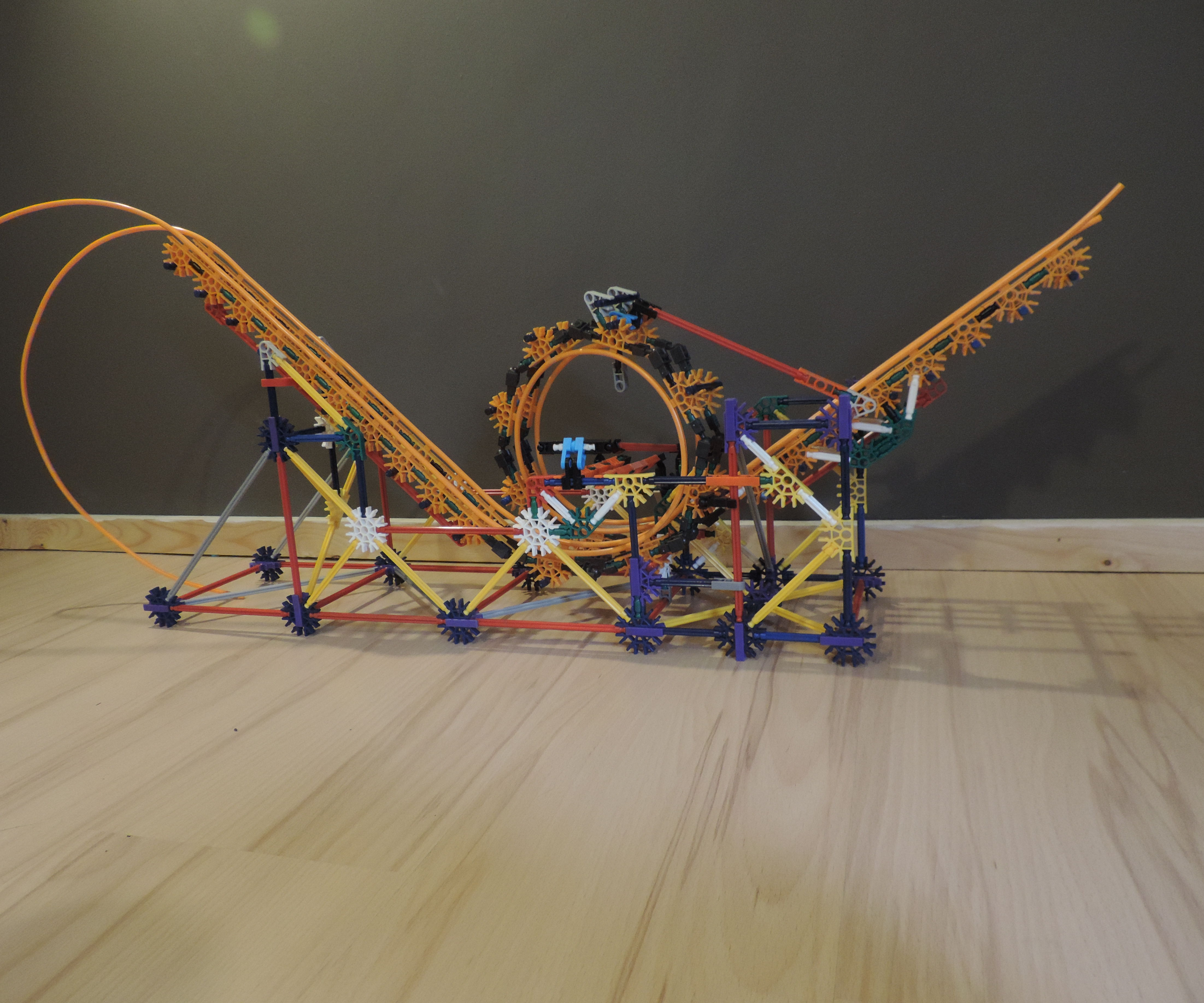 Knex Ball Machine Element: Roll-Back Loop
