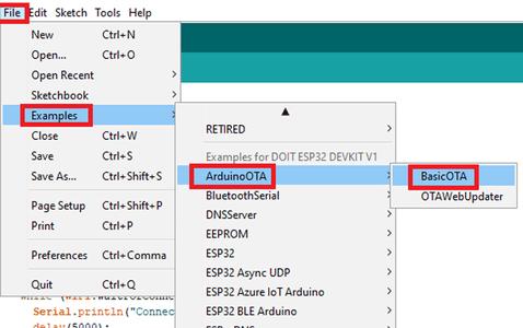 How to Use Basic OTA on ESP32
