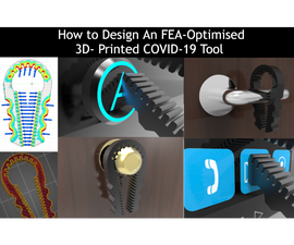 FEA-Optimised Novel Touch Less All-in-One Tool for COVID-19