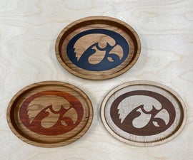 CNC Bowls and Trays With Through Logos