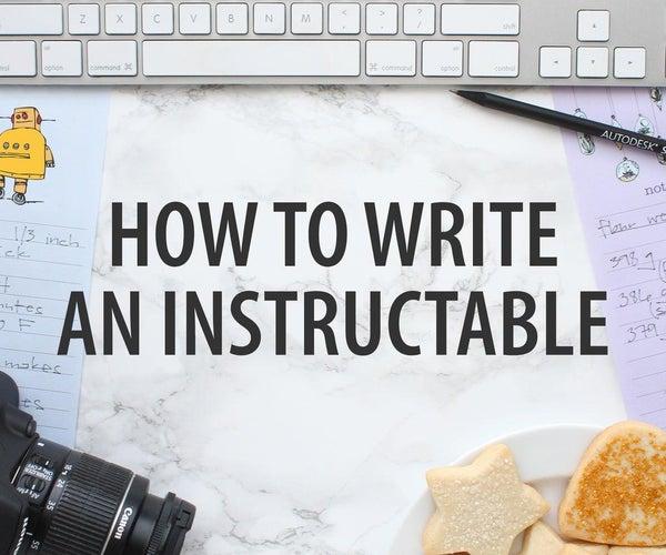 如何编写一个指示