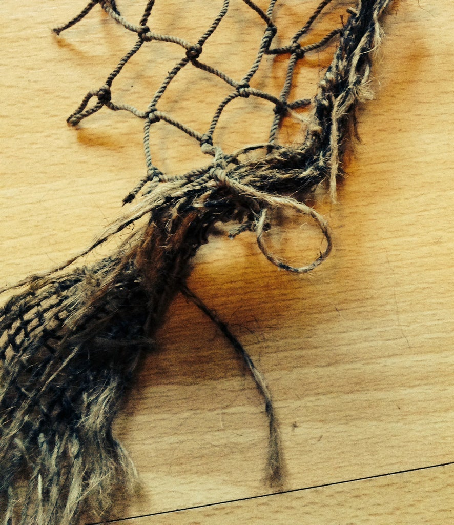 Attaching the Burlap to the Net
