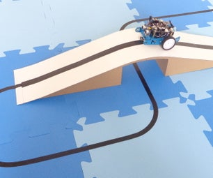 Map With Cardboard Overpass for Line Follower Robot