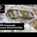 HUGE Homemade Dinosaur Excavation Dig