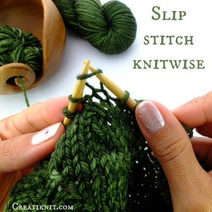Slip Your First Stitch on Your Left Needle, Onto Your Right Needle Knitwise (as If to Knit).