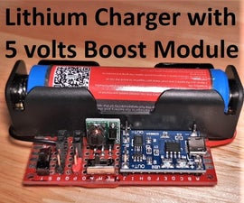 Charging Board for Lithium-Ion Battery With Step-up to 5 Volts