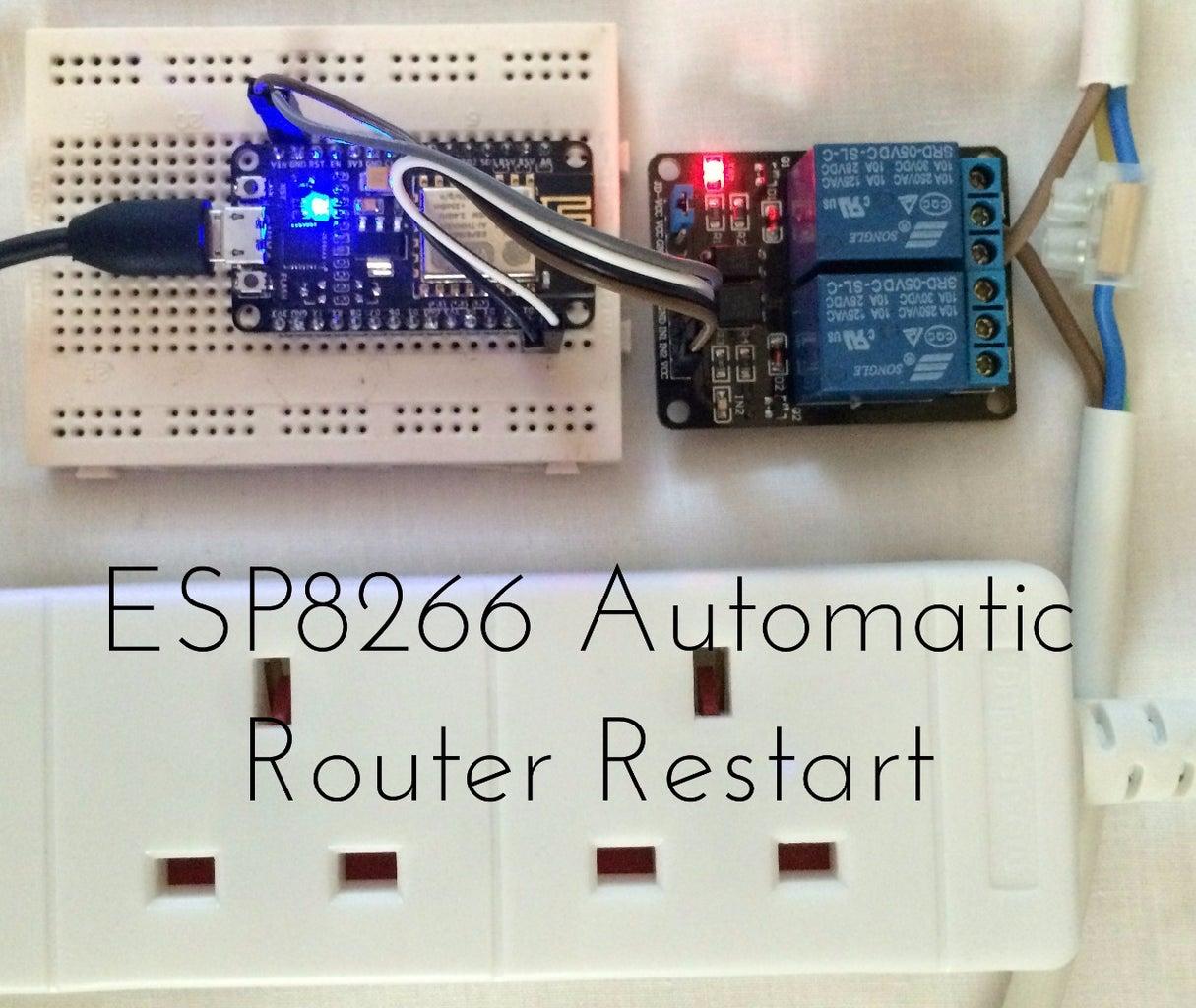 ESP8266 Automatic Router Restart