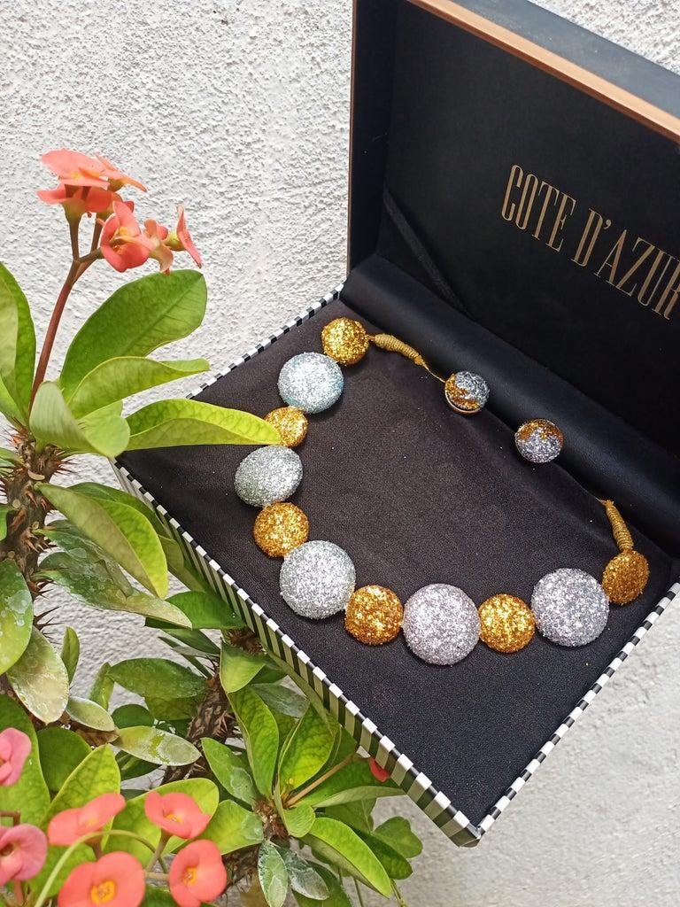 Glittery Button Jewelry