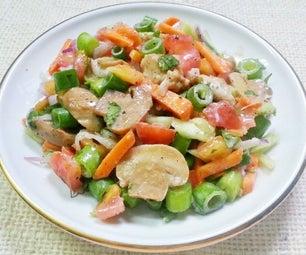 准备美味的鸡肉沙拉