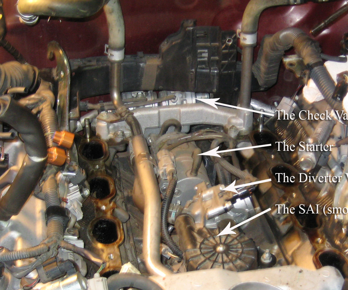 Secondary Air Injection Pump Replacement in a 2006 Toyota Sequoia