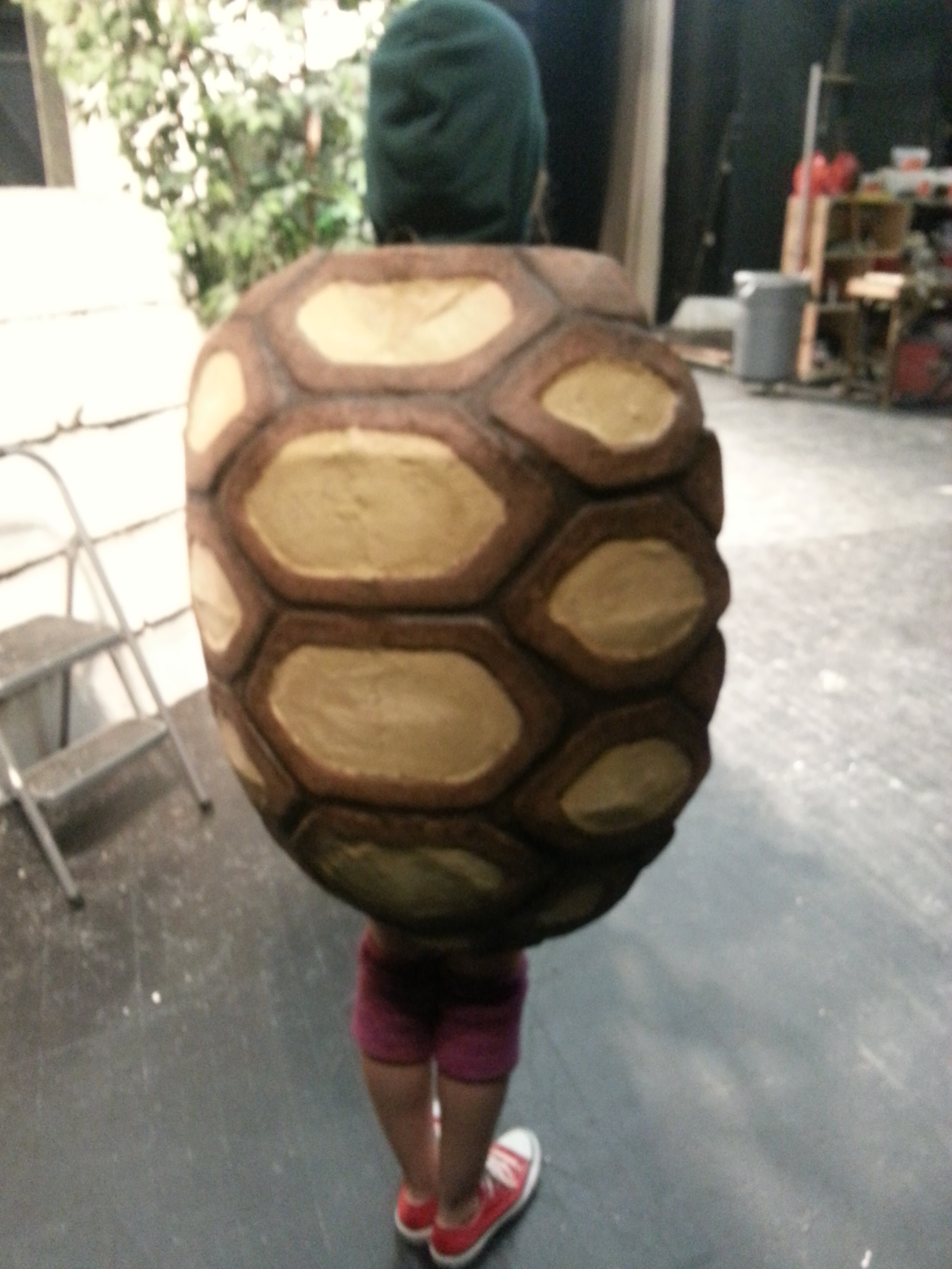 Tortoise Shell costume for youth theater production