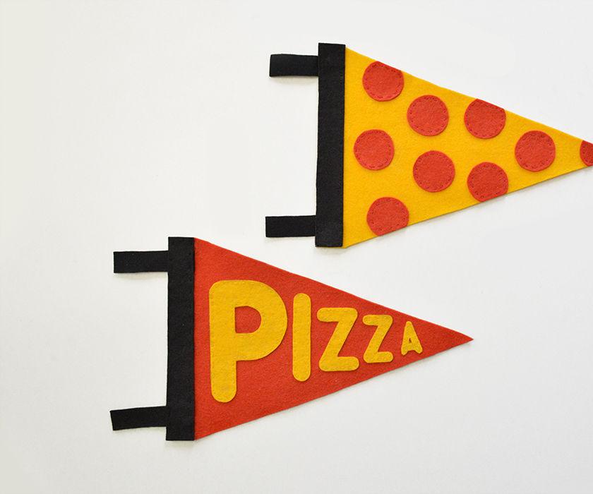 DIY: Typographic Pizza Pennants
