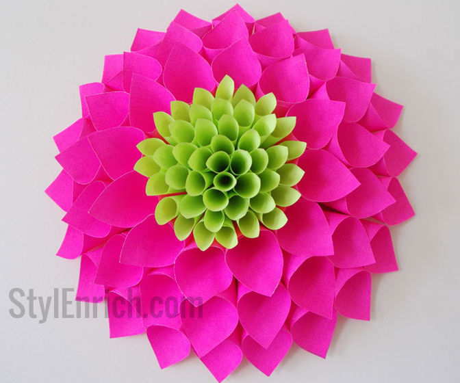 DIY Room Decor with Amazing Dahlia Flower