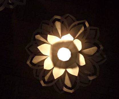Paper Flower Candle Holder