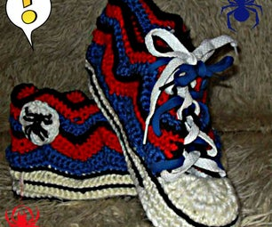 Converse-like Slippers - the Spiderman Edition!