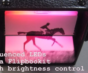 LED Flipbookit: Full Color and Brightness Control With an Arduino