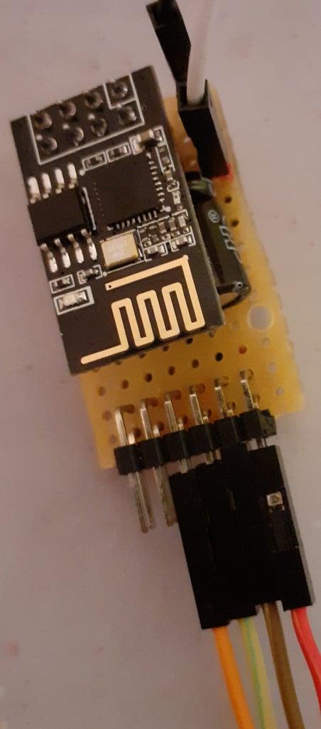 ESP8266-01 With HTU21 (MQTT)