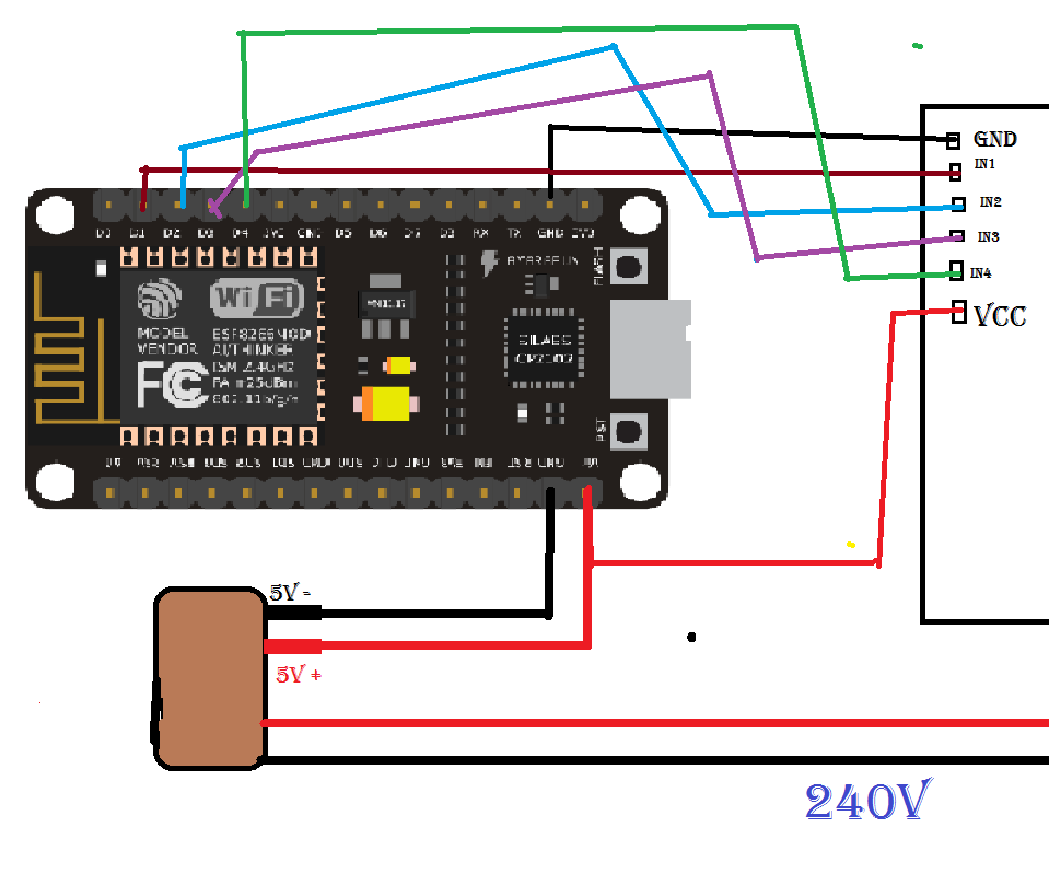 Nodemcu 1 0  Esp8266  Controlled Relay Using Blynk  Over