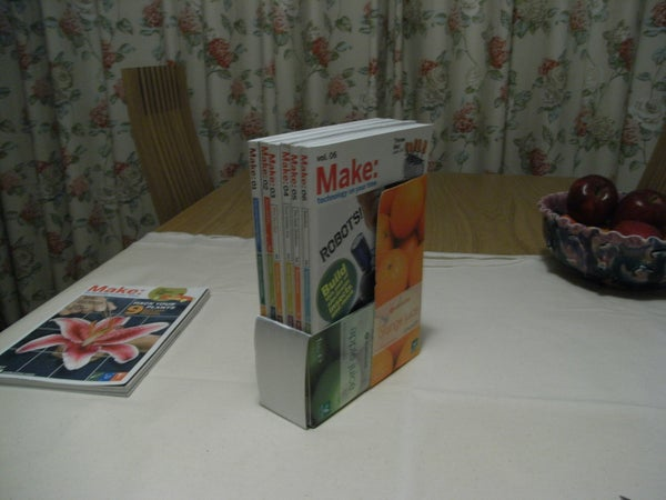 Juice Box Magazine Holder