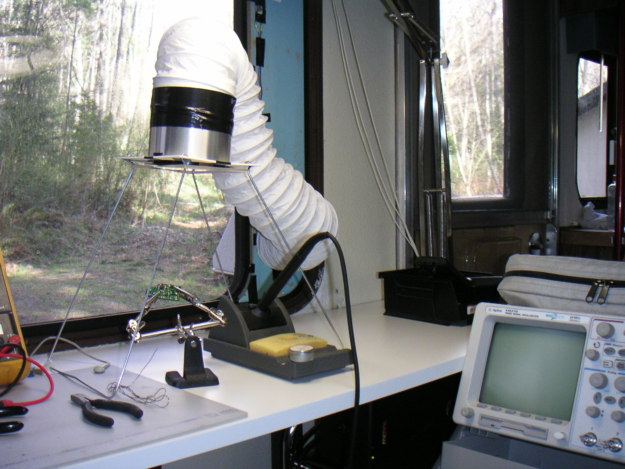 Window-mounted solder fume extractor (not just for RVs!)