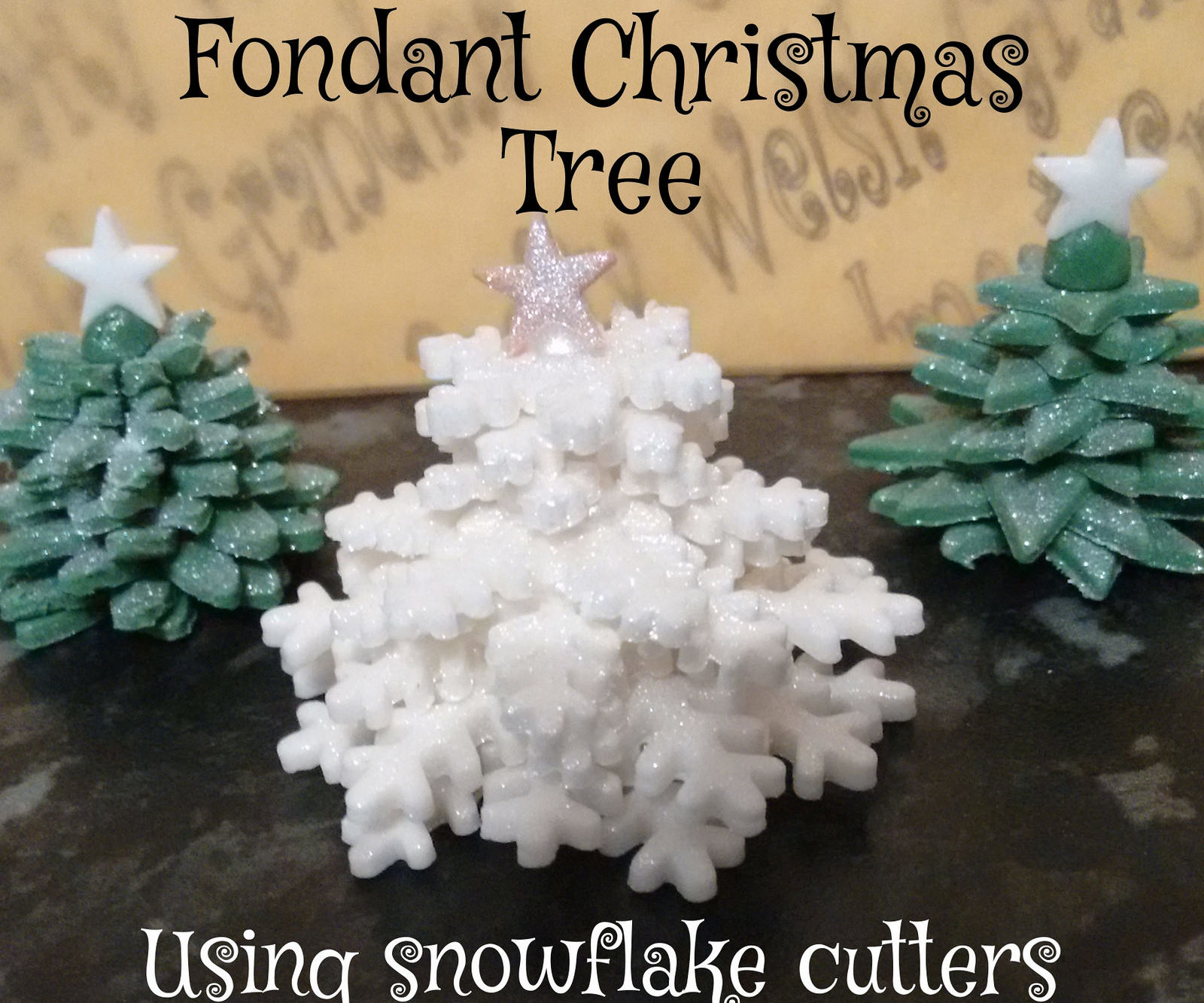 Fondant Snowflake Christmas Tree
