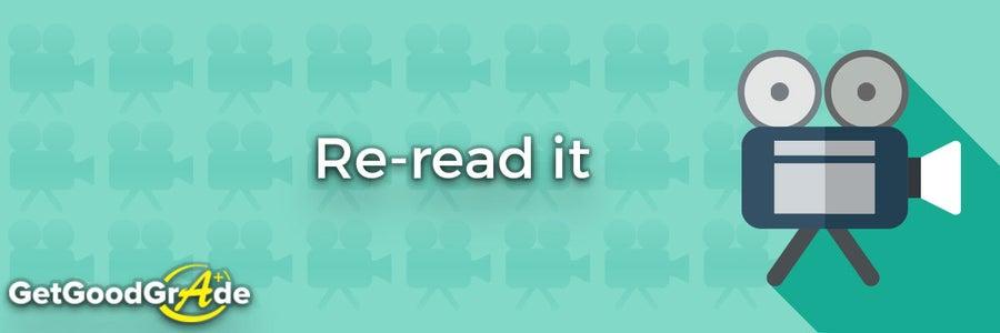 Re-read It.